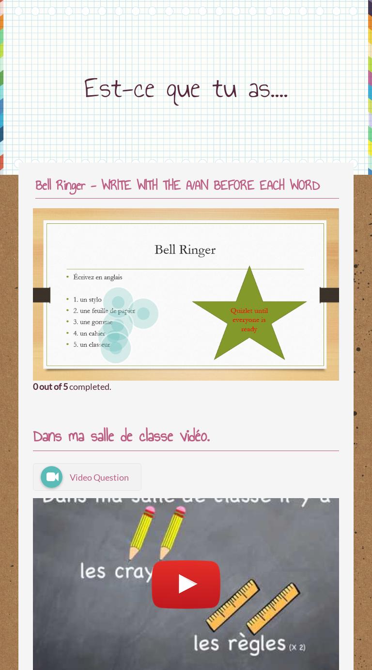 Est Ce Que Tu As Worksheet Learning Worksheets French Worksheets Worksheets [ 1380 x 768 Pixel ]