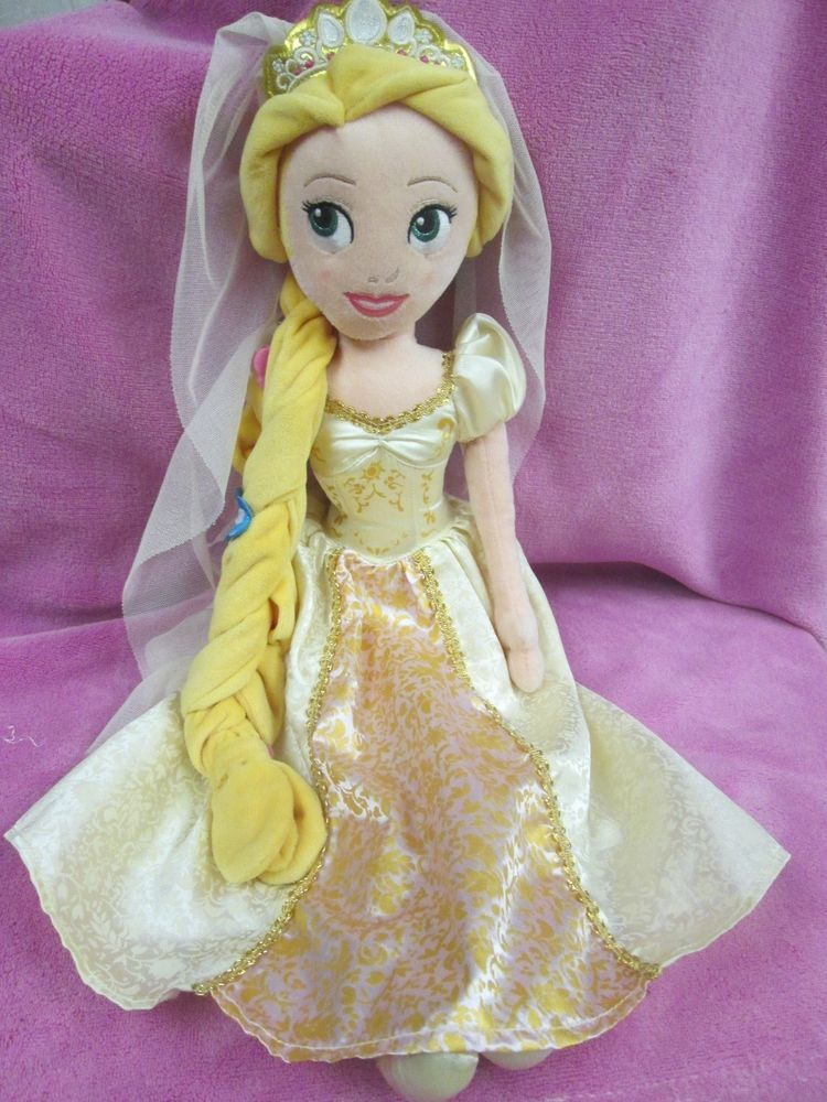 Disney Princess Tangled Ever After Wedding Bride Plush Rapunzel Doll 20 Inch