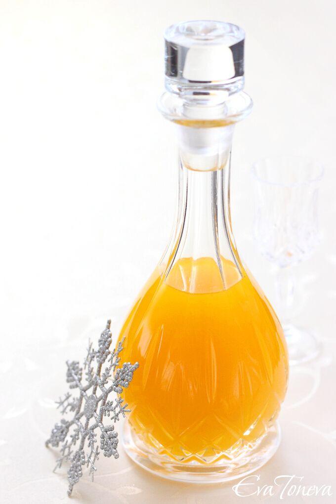 Homemade orange liqueur