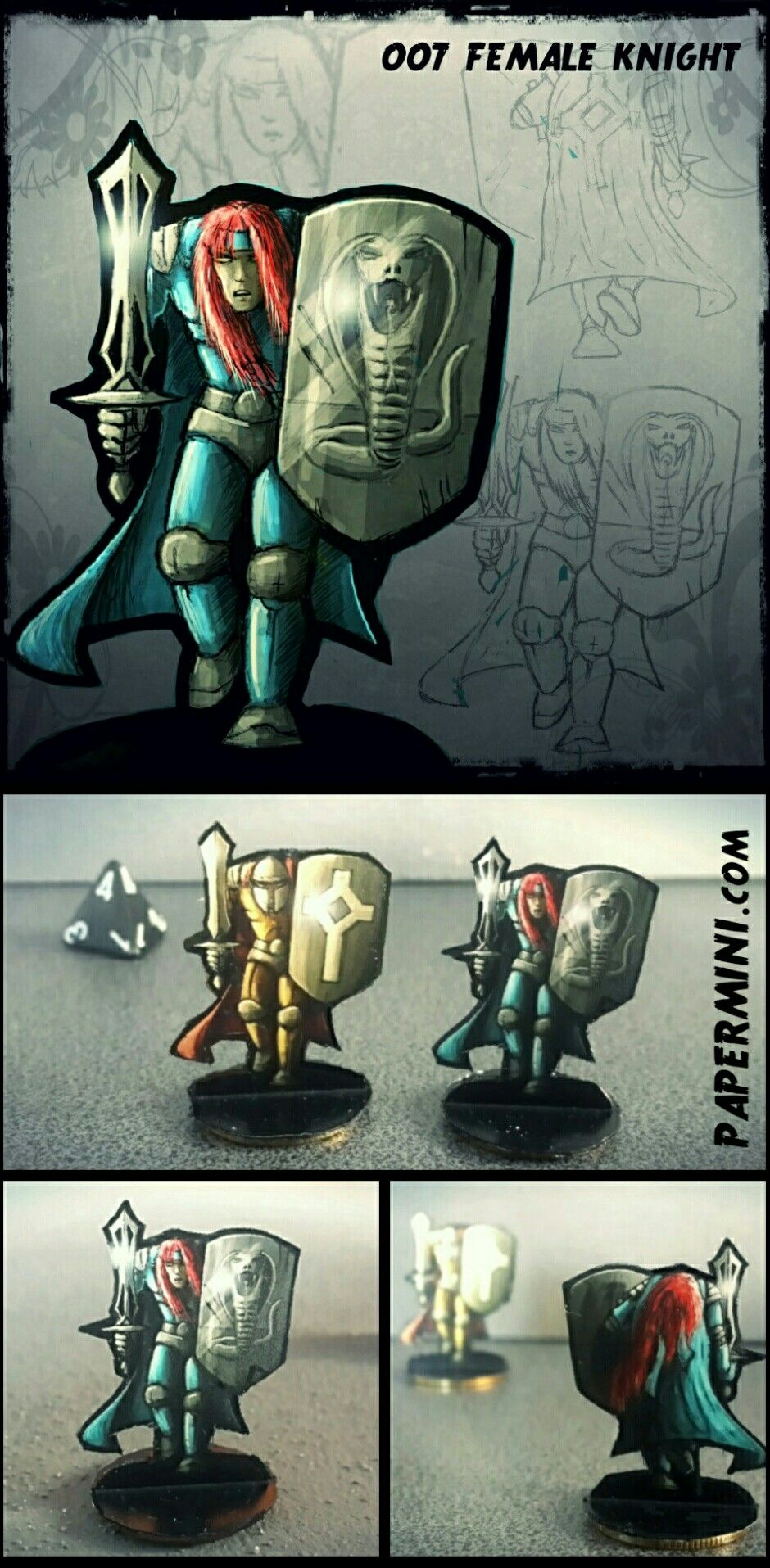 007 knight - paper miniature  Download the templates from my