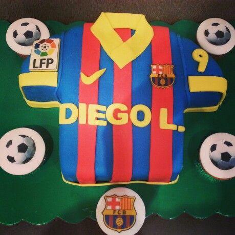 Barça cake Barcelona football