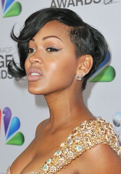 2014 Meagan Good S Short Hairstyles Trendy Haircut For Black Women Pretty Designs Short Hair Pictures Hair Styles Cool Short Hairstyles