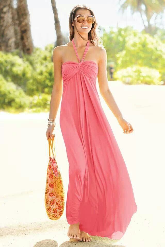 4ca3206144ce Light coral sundress | long summer dresses are sexy in 2019 | Beach ...