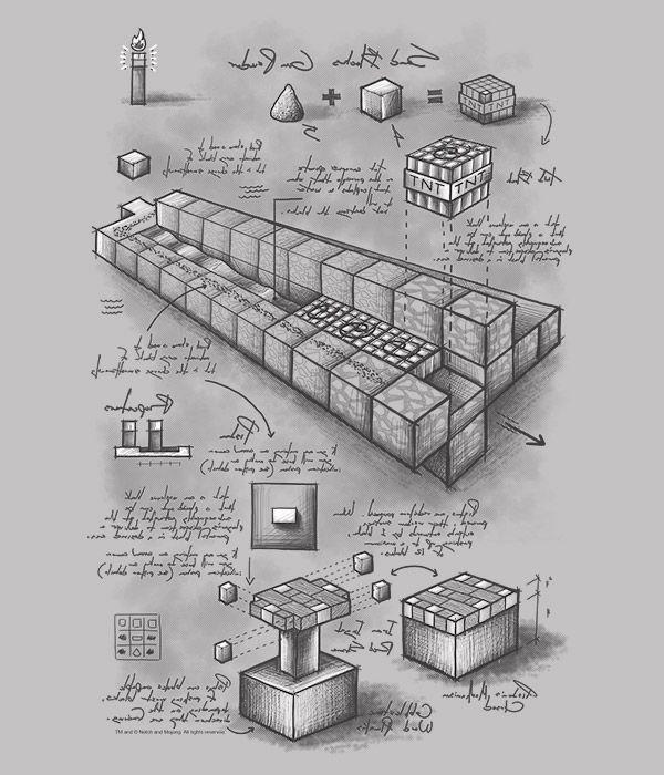 Minecraft Blueprint TNT Cannon Youth Tee Minecraft blueprints and - fresh minecraft blueprint apps