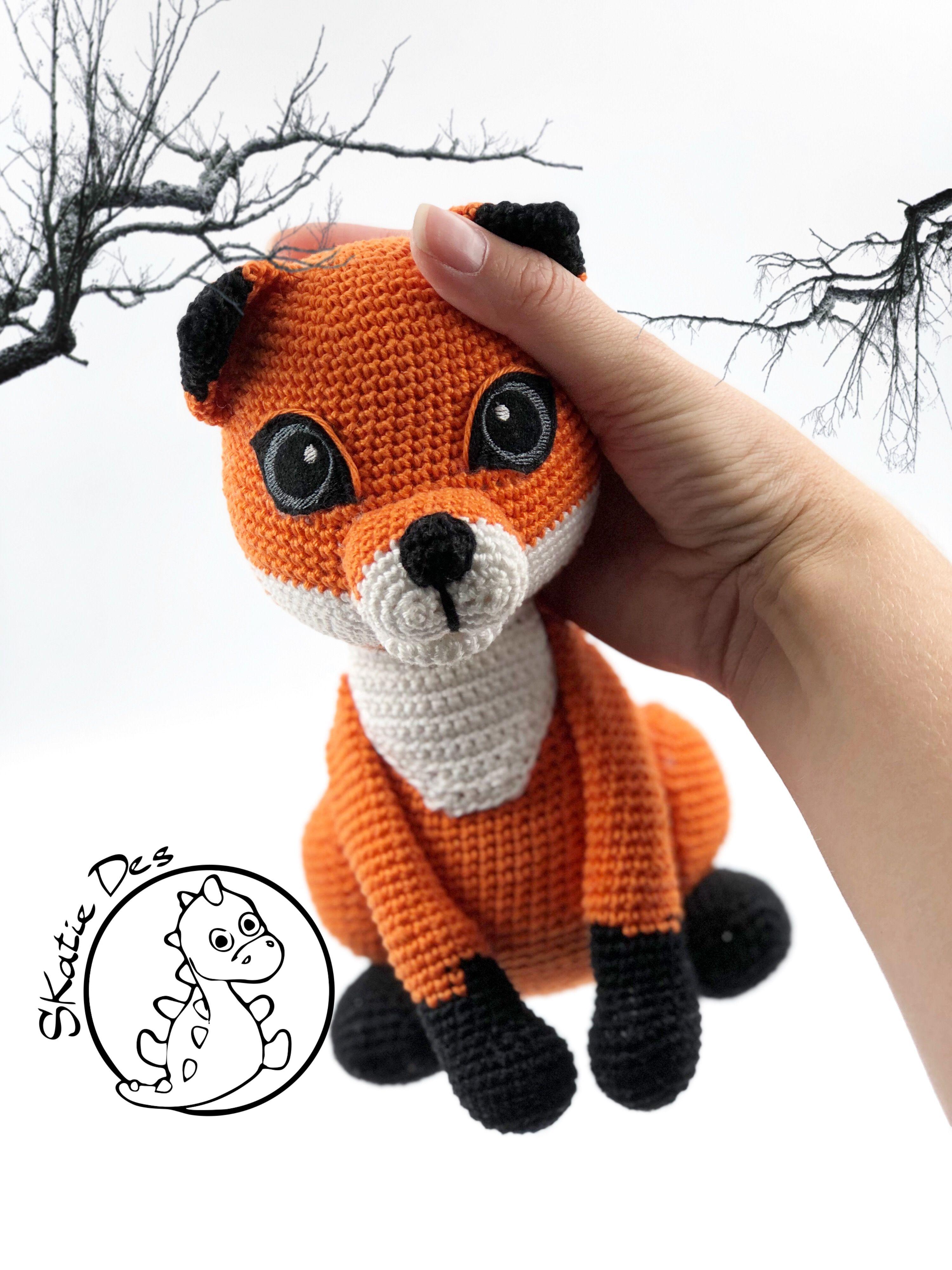 Adorable crochet Fox Felix according to my pattern