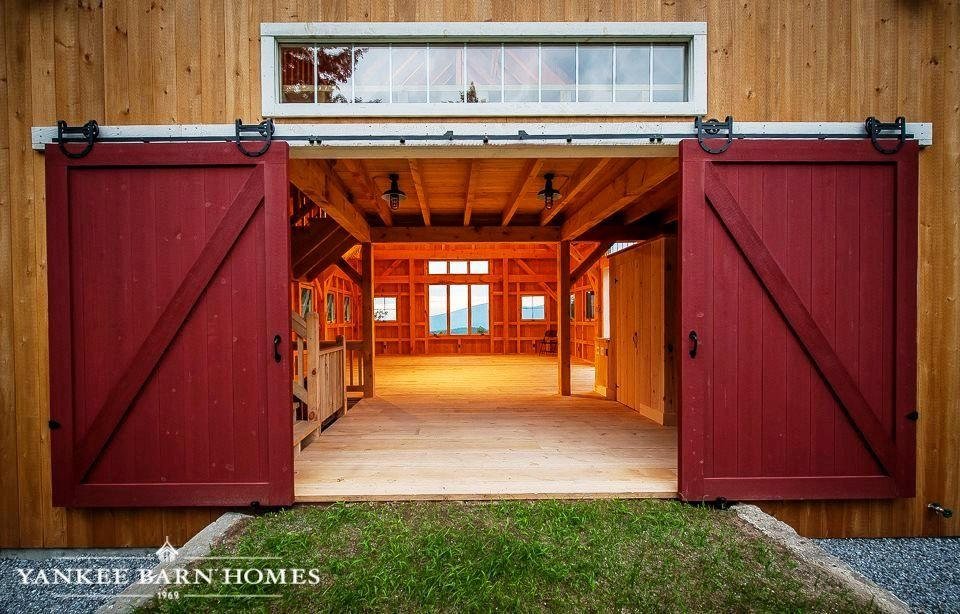 Red Sliding Barn Door 24×36 sutton barn | sliding barn doors, posts and post and beam