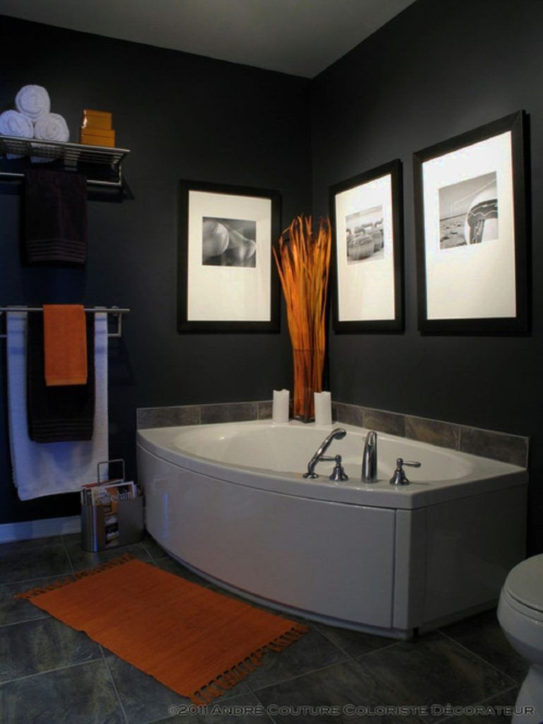 Mens Bathroom Decor Mens Bathroom Decor Ideas Hall Bath In 2019 Orange Bathrooms