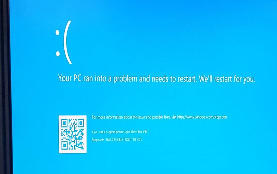 Fix Windows 10 Inaccessible Boot Device BSOD ( 5 Working