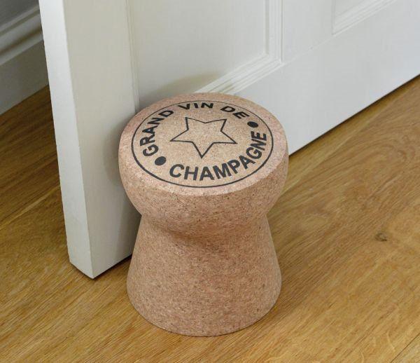 Lovely Decorative Creative Door Stoppers Champagne Cork Doorstop .
