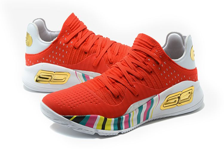 c40f2d4bb56f Under Armour Youth Big Boys Curry 4 VI Low CNY Christmas Chinese New Year