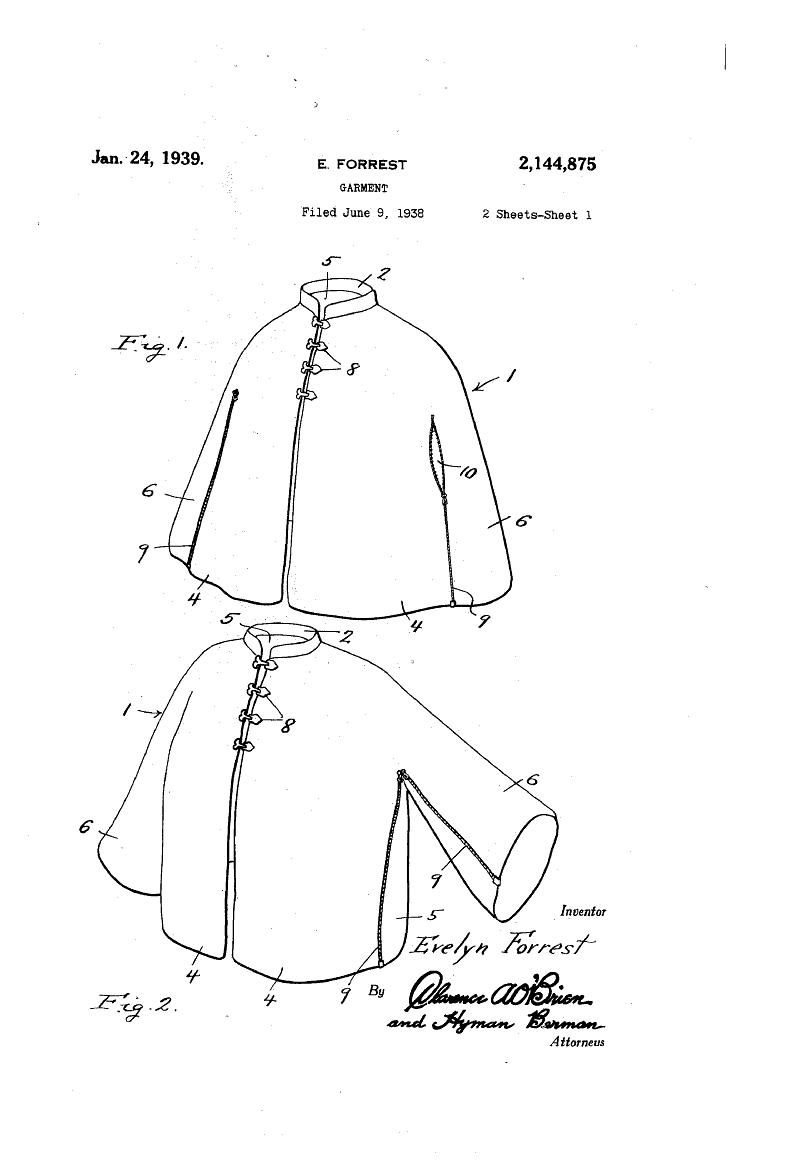 Circle Coat or Cape Pattern from 1939 | Patrones Gratis | Pinterest ...