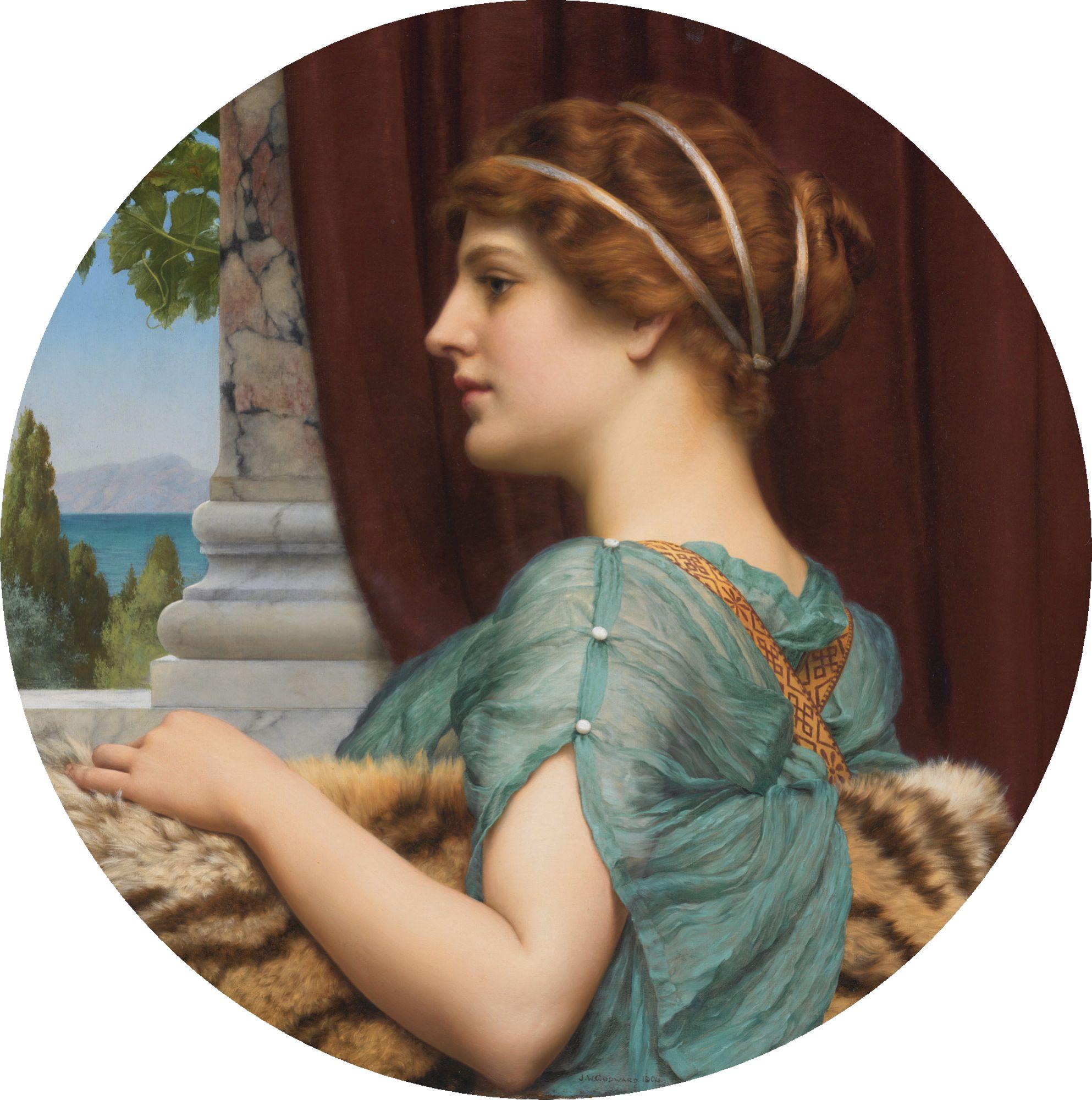 john william godward a pompeian lady - Google Search