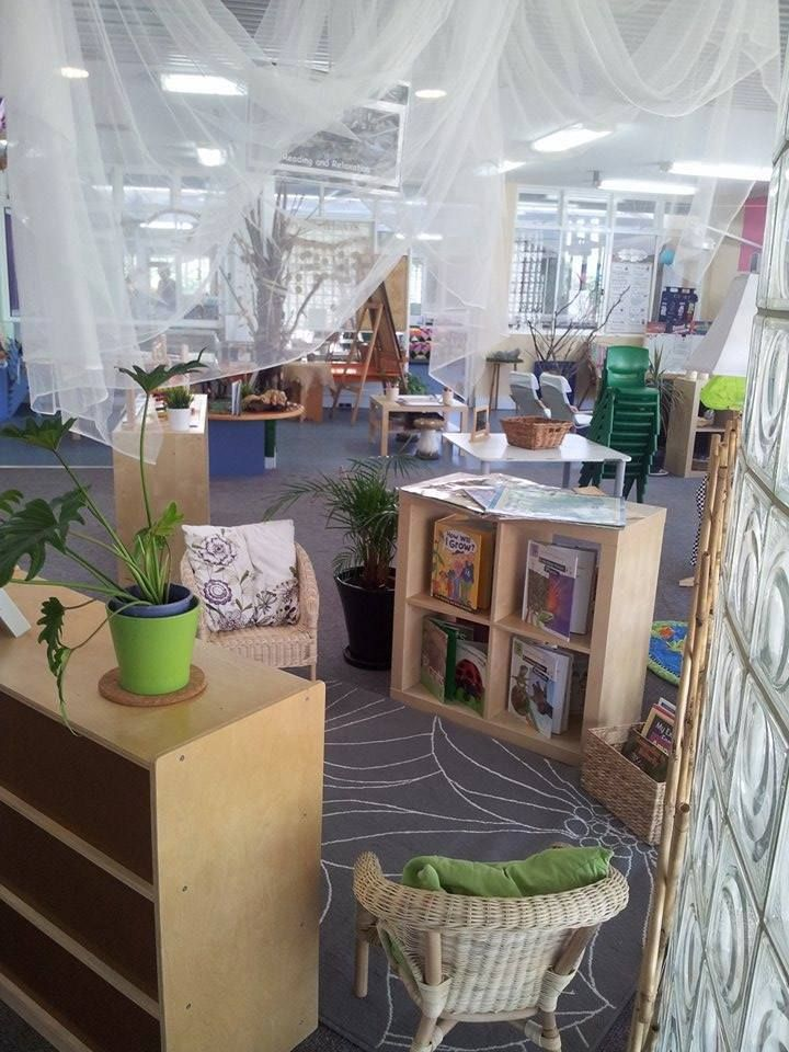Beautiful reading area ideas for preschool for Raumgestaltung literacy