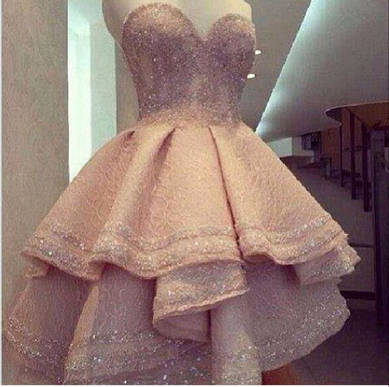 Pink wedding dress short in front long in back  Love it  Bold dresses  Pinterest  Bald hairstyles