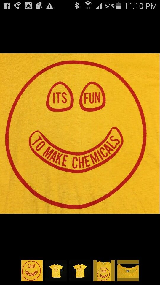 It's fun to make chemicals vintage 70s tee
