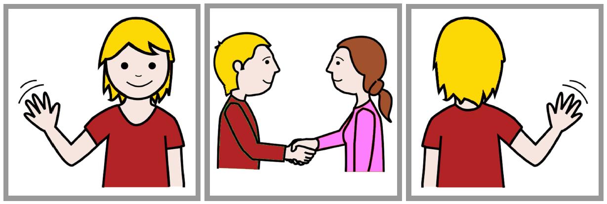 Картинки с изображением приветствия и прощания