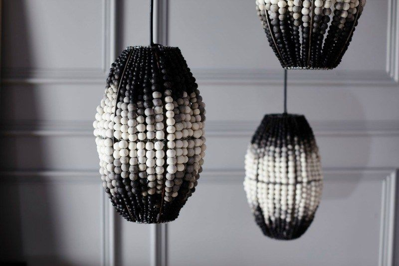 Klaylife pendants bead pendant lights in black and grey ombre