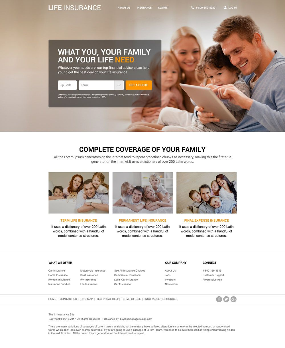 Want To Create Your Life Insurance Company Website Agency