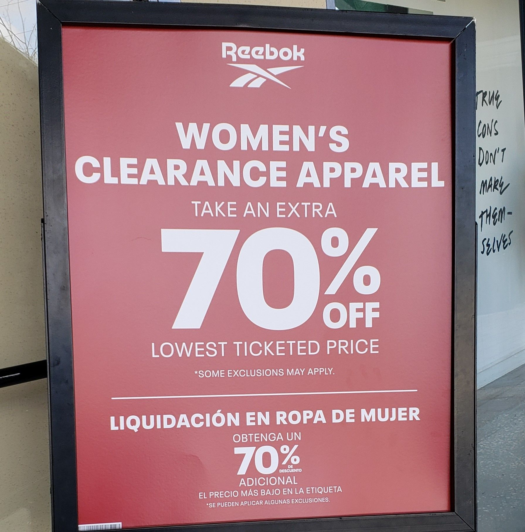 reebok clearance store