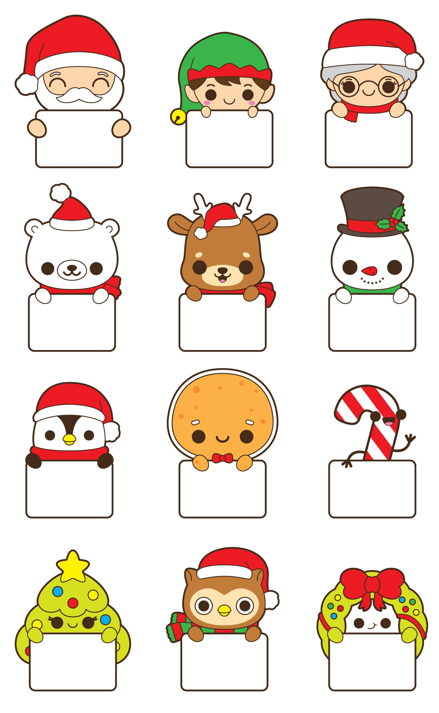 Imagenes Predisenadas De Caramelo De Navidad Imagenes Etsy Kawaii Christmas Easy Christmas Drawings Christmas Drawing