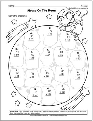 Mouse On The Moon Lesson Plans The Mailbox Math Coloring Homeschool Math First Grade Math