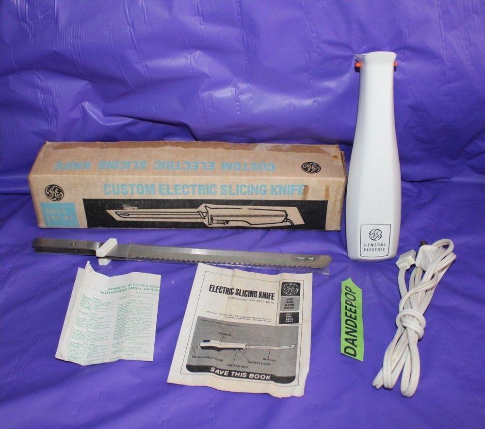 Ge Vintage Custom Electric Slicing Knife Ek15 3705 001