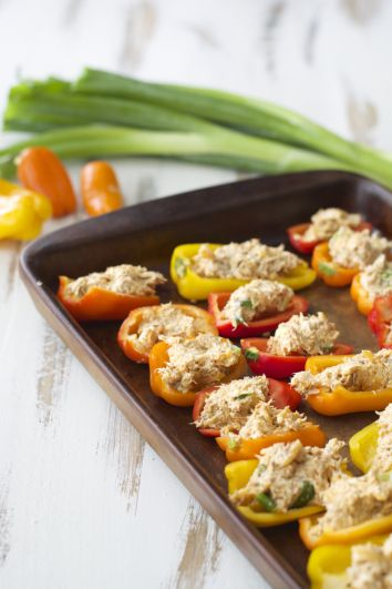 Chipotle Tuna Stuffed Sweet Peppers, packed with flavor and super easy!