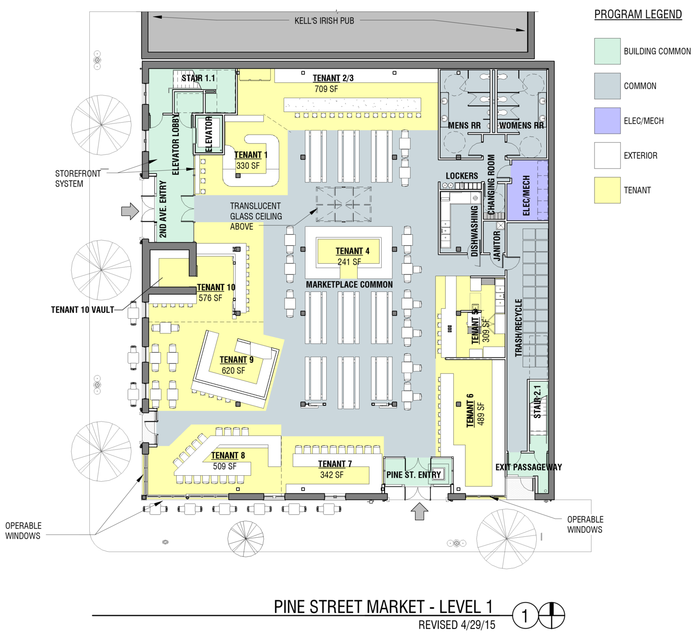 Pine street market portland food halls pinterest for 125 court street floor plans