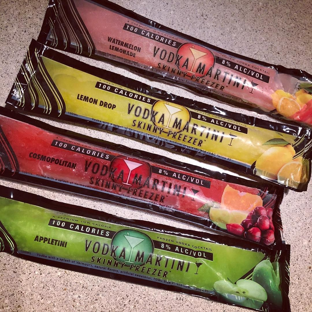Slim Chillers Created Low Calories Skinny Freezers They Re Essentially Boozy Ice Pops And You Ll Be Super Thank Boozy Ice Pops Vodka Martini Watermelon Vodka