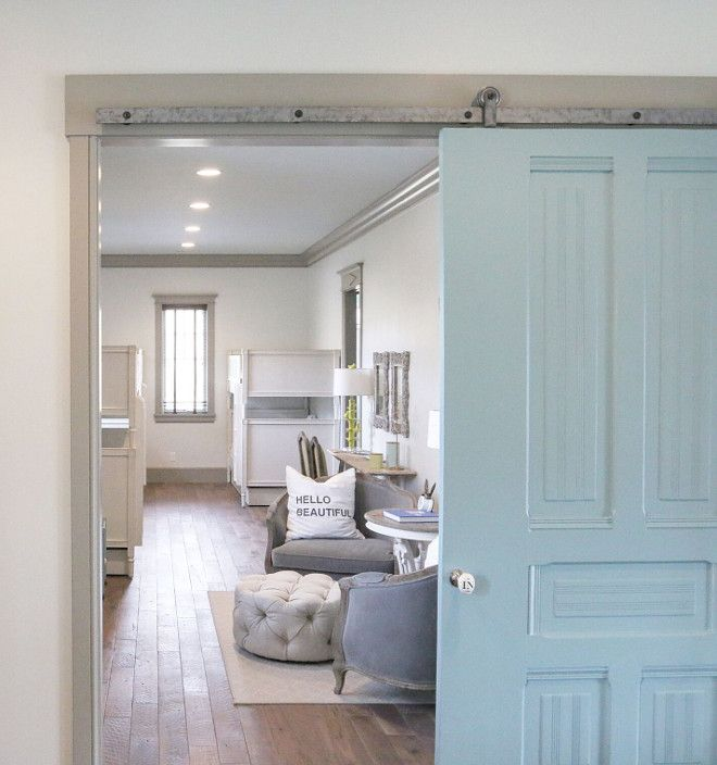 Barn Door Paint Color Is Sherwin Williams Sw6479 Drizzle Hgtv Dream Home Interior Barn Doors Home