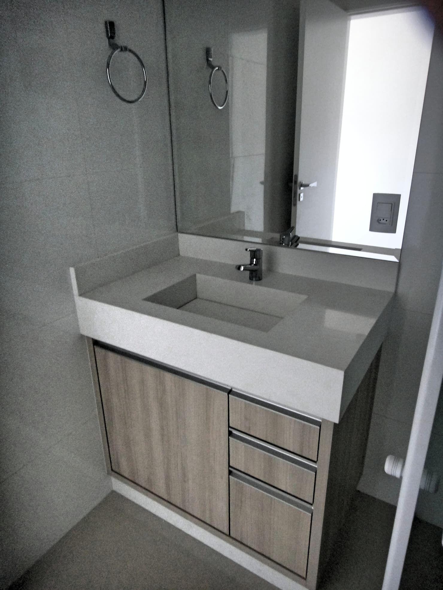 Banheiro suite dos netos banheiros modernos por gabriela herde arquitetura & design moderno