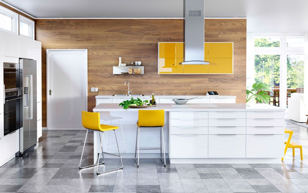 Ikea Modern Kitchen Cabinets White introducing sektion: the new ikea kitchen system | large modern