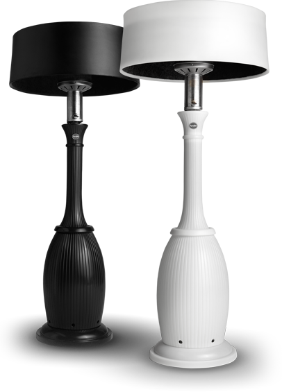 An outdoor heater that looks like an oversized lamp! The Bella ...