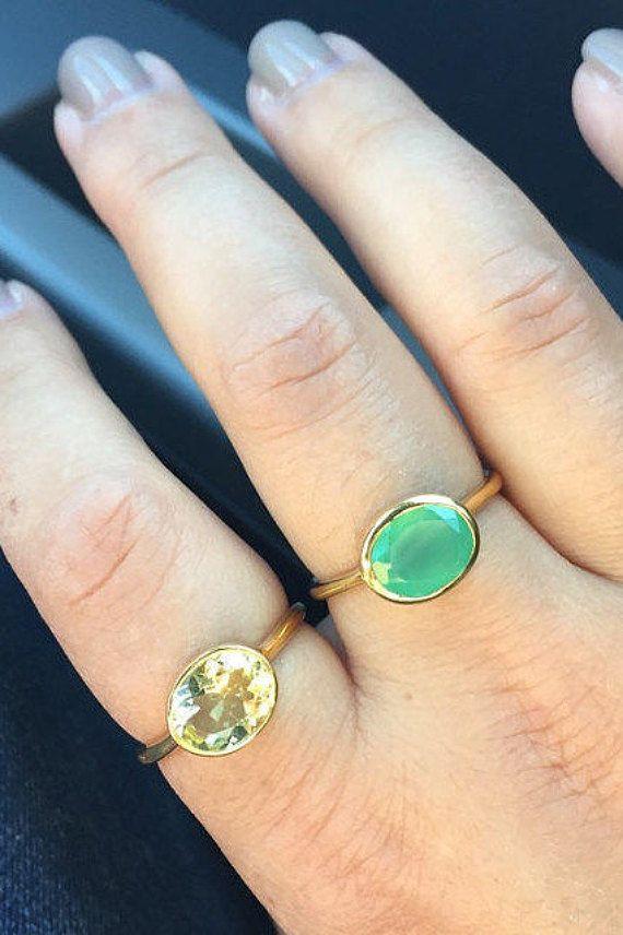Lemon Quartz Ring - lisa eldridge rings - November Birthstone ...