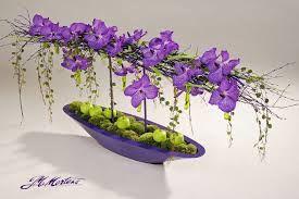 Orchidee Vanda Montee Sur Vase Modern Flower Arrangements