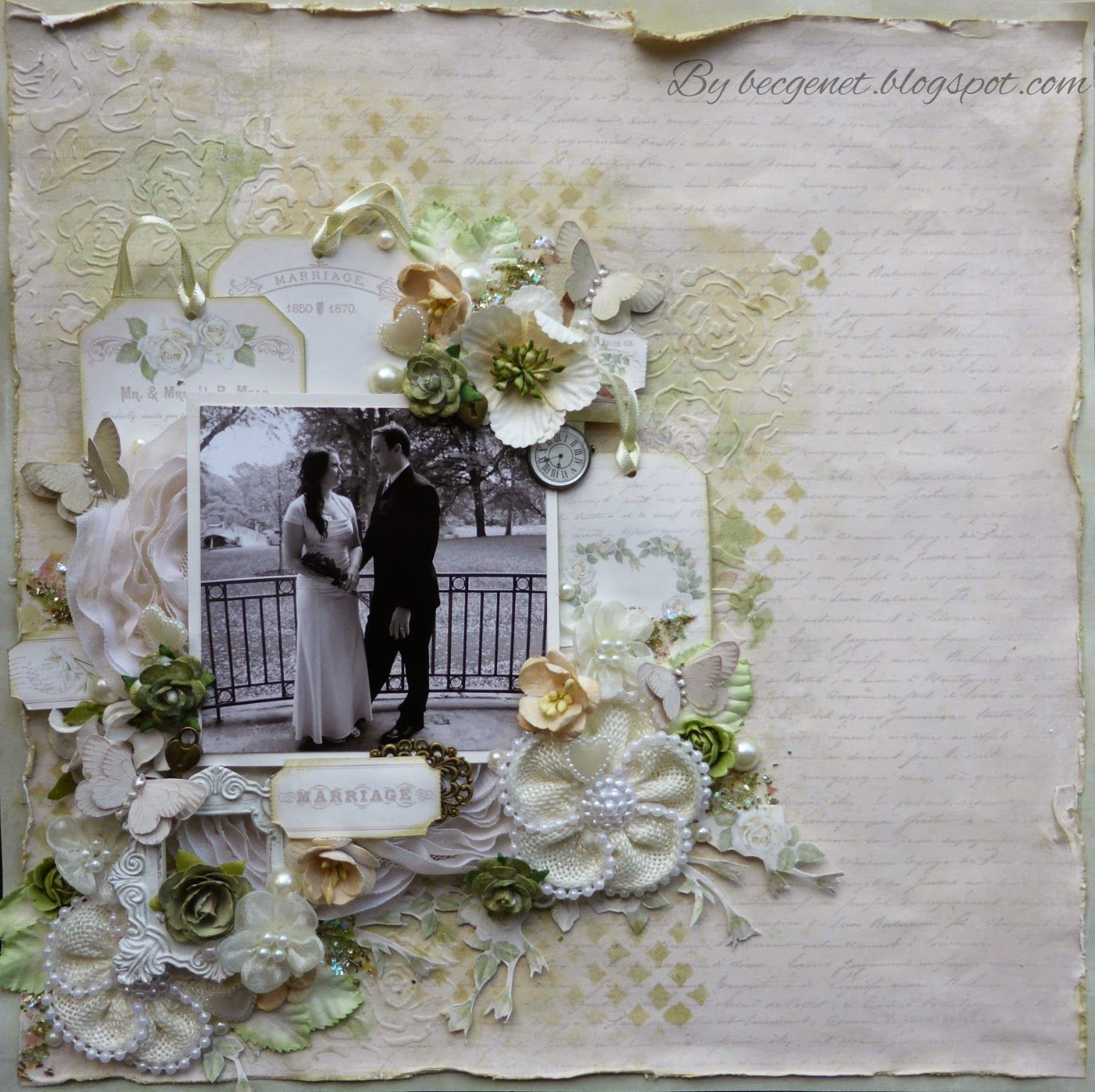 Classic Wedding Album Design: My Scrappin Spot: Marriage For Bella Paperie. Pion Designs