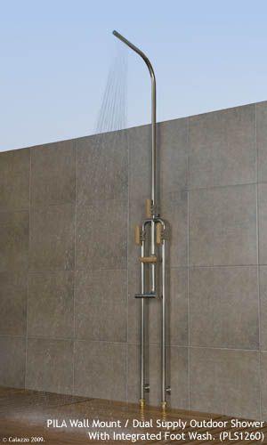 Calazzo Com Pila Outdoor Showers Wall Mount Dual Supply Hot