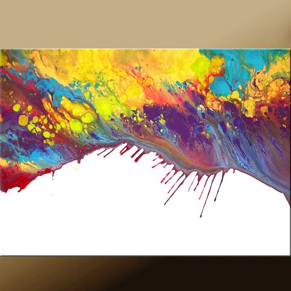 Abstract Canvas Art Painting Original Modern by wostudios