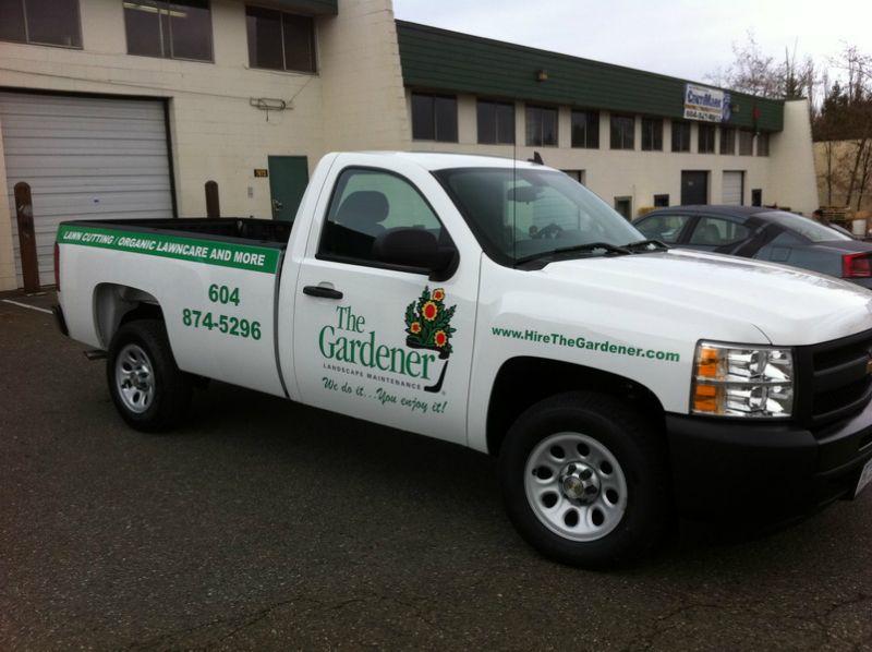 The Gradner. Vancouver landscape franchise vehicles Car