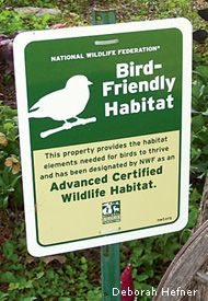 NWF Certified Wildlife Habitat sign - for encouraging ...