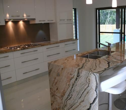 Kitchen Bench Waterfall Edge: Mackay Marble & Granite In Mackay Region, QLD 4740