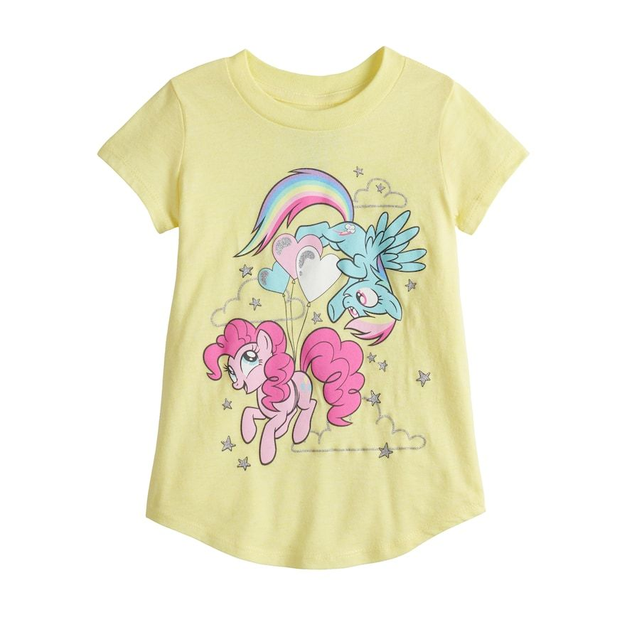 d33d3264a51 Toddler Girl Jumping Beans® My Little Pony Pinkie Pie & Rainbow Dash Graphic  Tee, Size: 4T, Gold
