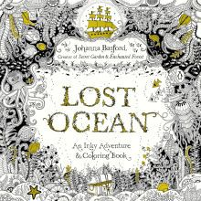 lost ocean an inky adventure coloring book - Michaels Coloring Books