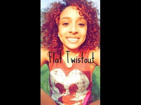 Natural Hair Tutorial| Flat Twistout| Kaiyaty - YouTube