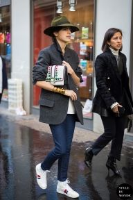 Leandra Medine of Man Repeller & Karla Martinez, W magazine fashion market & accessories director, after Isabel Marant fashion show. Follow me on Instagram @Style DuMonde, Pinterest, Twitter, TumblrandFacebook