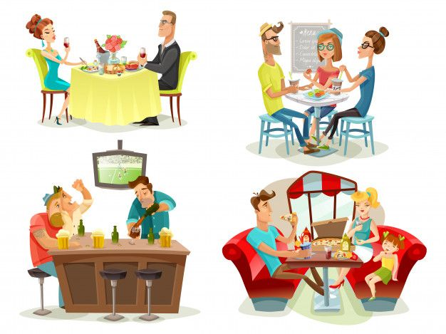 Download Restaurant Cafe Bar People 4 Icons for free