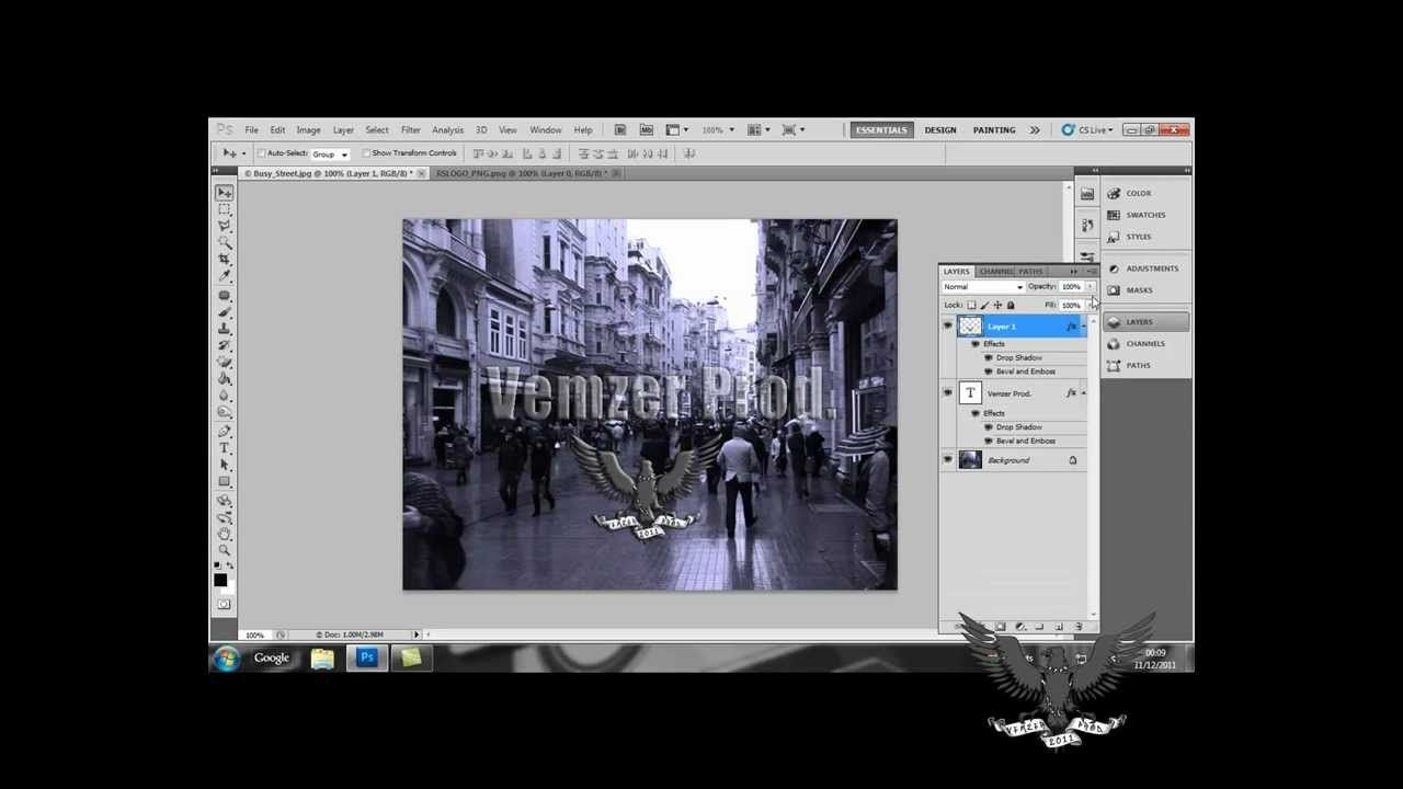 Adobe cs5 watermark tutorial cs5