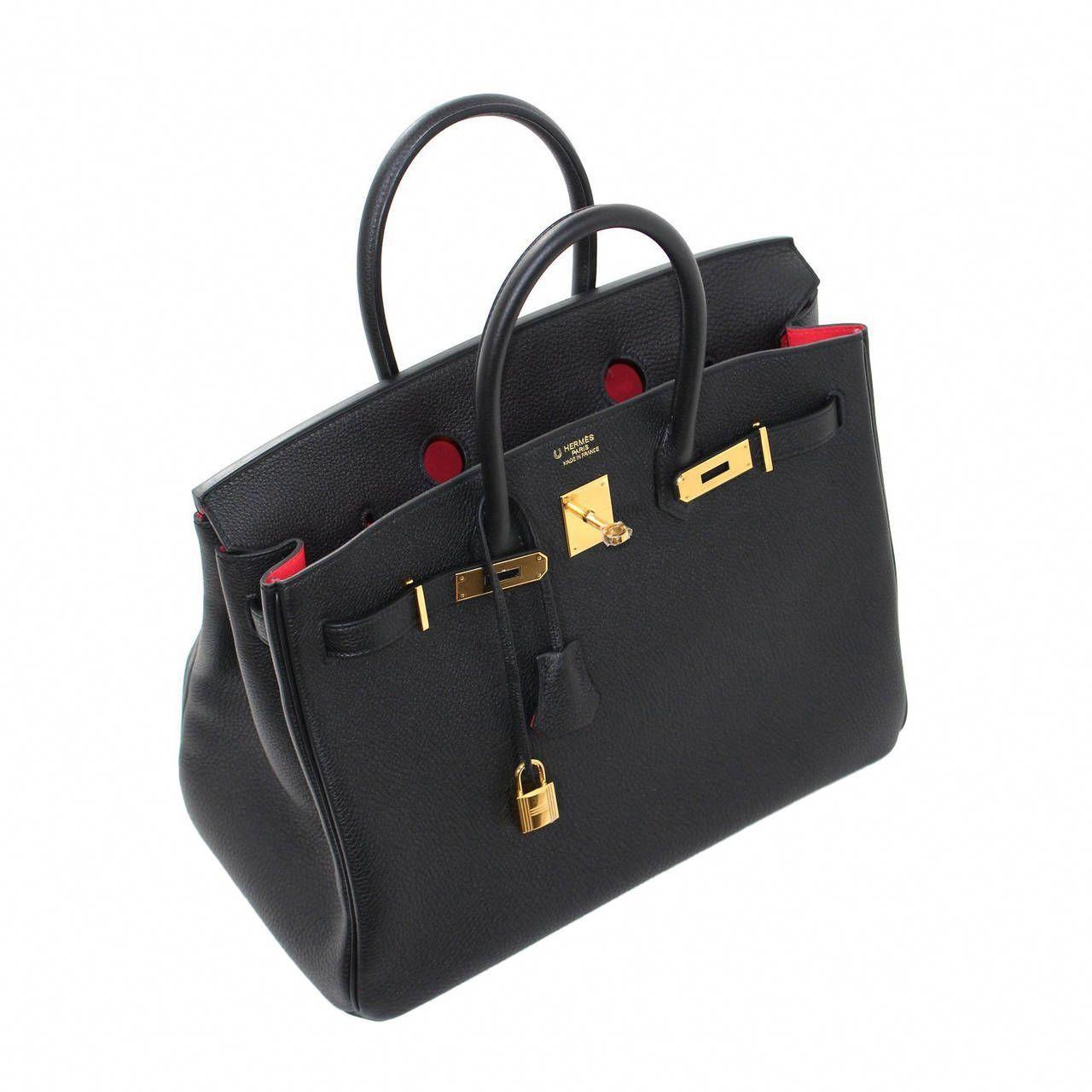 288c67300507 Hermès Horseshoe Birkin Bag in Black Togo with Rose Jaipur