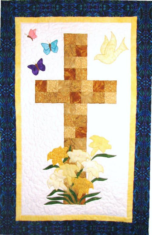 White & gold - Easter, pieced and quilted | Hobbies: Church ...