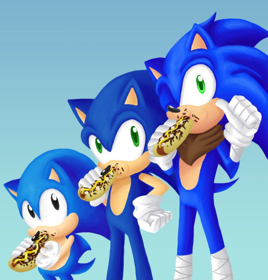 Sonic The Chili Dog Lover Since 1991 Sonic Sonic The Hedgehog Sonic Art